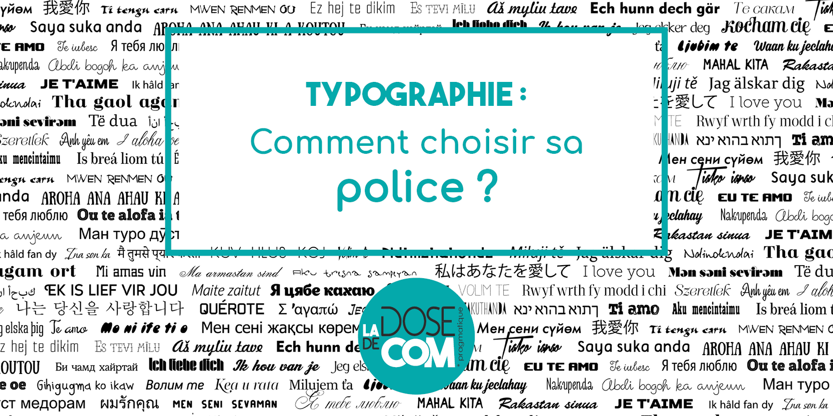 Typographie : Comment choisir sa police ?
